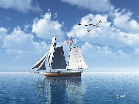 Lazy Day Sail by Julie Grace
