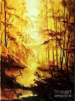 Lazy River In The Wood by Liana Horbaniuc