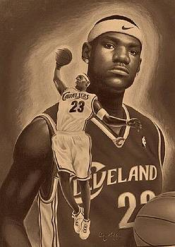 LeBron James by Cory McKee