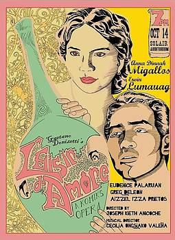 L'Elisir d'Amore poster by Jose Gamboa