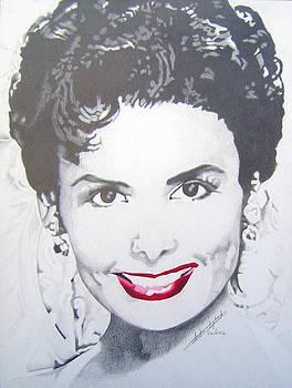 Lena Horne portrait by Andre Ajibade