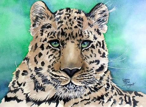 Leopard's Blue Glare by Lynne Hurd Bryant