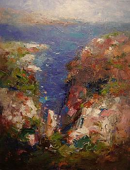 Les Calanques in bright light by R W Goetting
