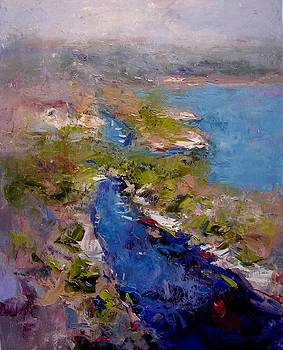 Les Calanques in morning by R W Goetting