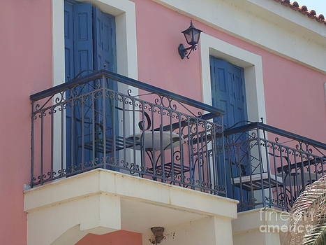Lesvos Balcony by Roswitha Schmuecker
