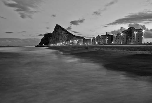 Levante and The Rock in Black and White by Eva Stachova