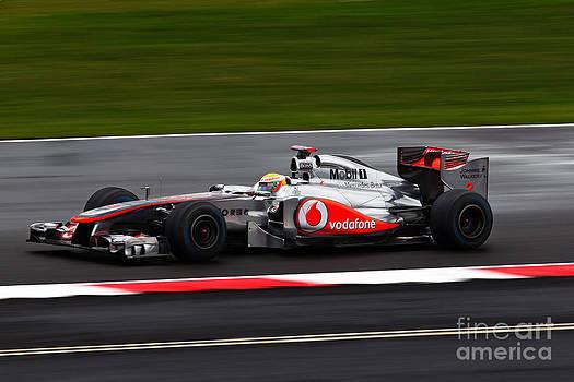 Lewis Hamilton Silverstone 2011 by David Smith