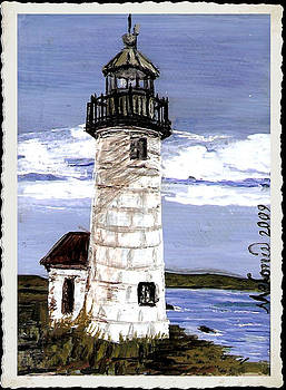 Libby Lighthouse Maine by Melonie King