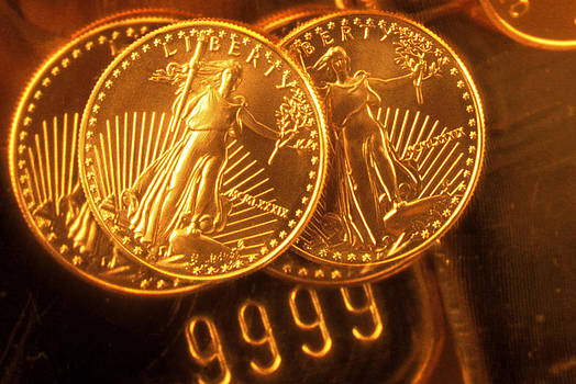 Liberty Gold Coins by Lyle Leduc