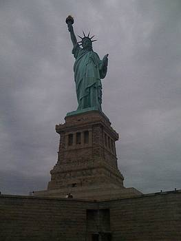 Liberty Raising her Torch by Chris Wolf