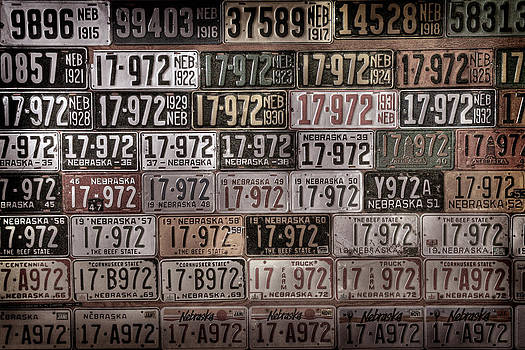 License Plates of Nebraska by Andrea Kelley