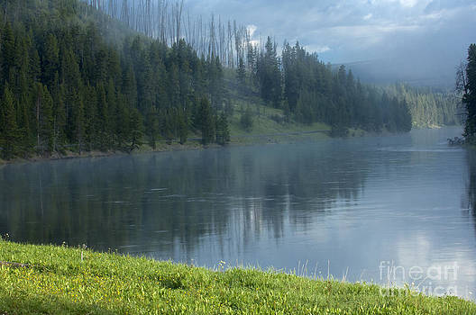 Sandra Bronstein - Lifting Fog on the Yellowstone