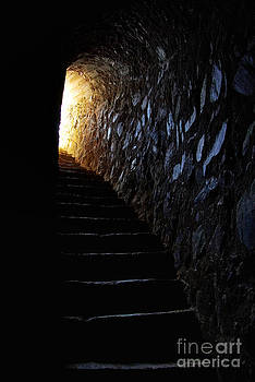 Light At End Of Tunnel In Portuguese Castle by Inacio Pires