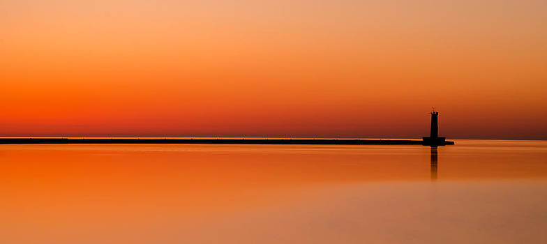 Light House Silhouette by Todd Heckert