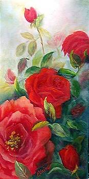 Light Red Rose by Elaine Bailey