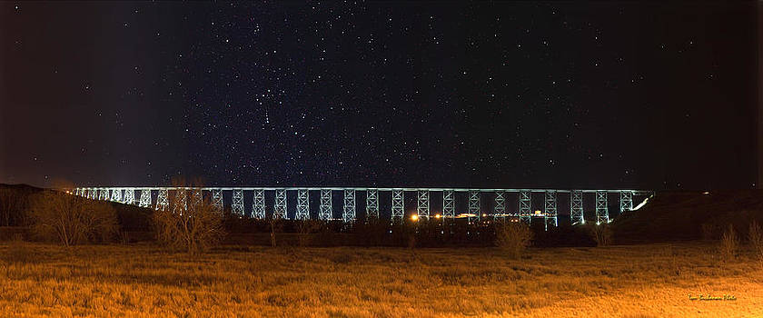 Lighted High Level Bridge by Tom Buchanan