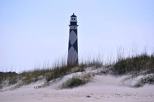 Lighthouse at Cape Lookout by Jeff Moose