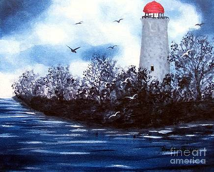 Barbara Griffin - Lighthouse Blues Painterly Style