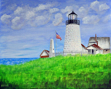 Lighthouse by the sea by Jeanette Keene