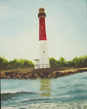 Lighthouse in long beach island by Al Fonollosa