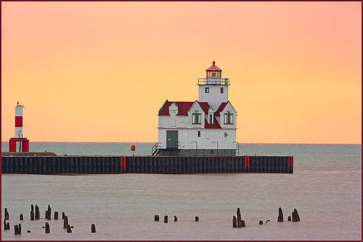 Lighthouse-Pink at Night by Fuad Azmat