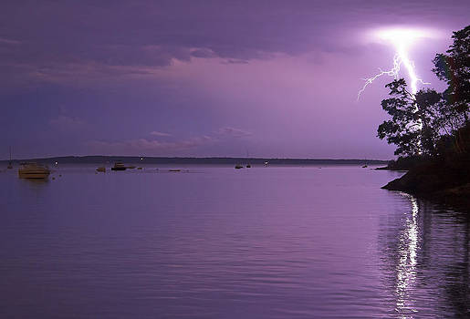 Lighting over Isleboro by Kevin Kratka