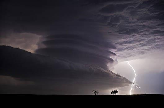 Lightning and Stacked Plates by Jennifer Brindley