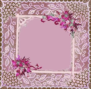 Lilac and Heather Lace Matting by Jenny Elaine