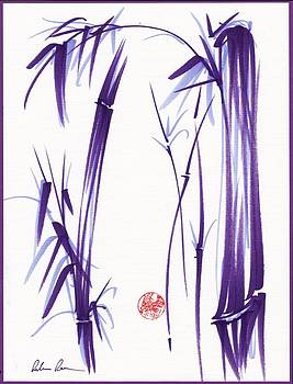 Lilac Bamboo Forest by Rebecca Rees