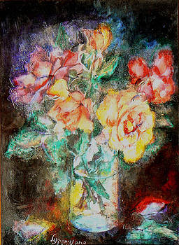 Lilies in glass by Baruch Neria-Kandel