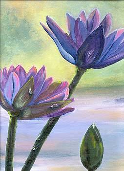 Lillies of the Pond by Peggy Mars