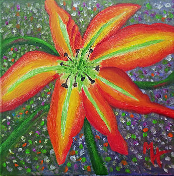 Lily In My Garden by Margaret Harmon