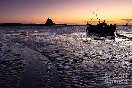 Lindfisfarne castle sunrise by David Smith
