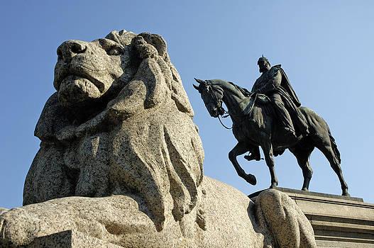 Lion and horse monument - German emperor Wilhelm I by Matthias Hauser