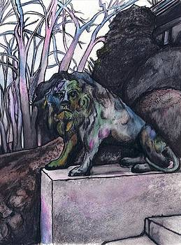 Lion  at Montebello by Josh Mayfield