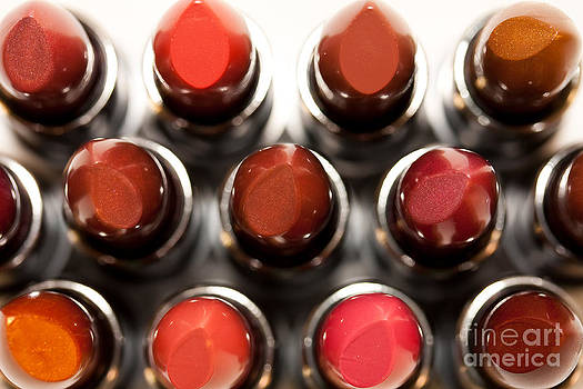 Lipsticks From above by Rachel Duchesne