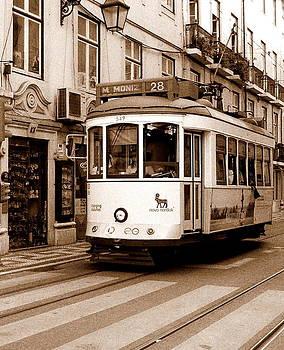 Lisbon Tram by Debbie Cook
