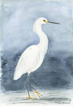 Little egret by Wenfei Tong