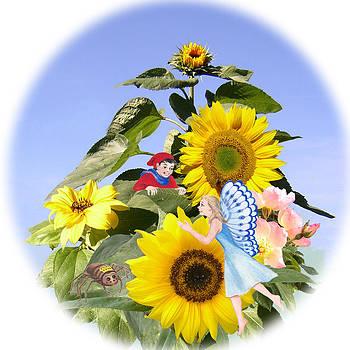Little folk among the sunflowers by Maureen Carter