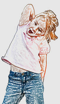 Little Girl with Itchy Back by Carolyn Meuer-Pickering of Photopicks Photography and Art