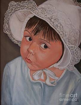 Little Girl with Lace Hat by Jane Honn