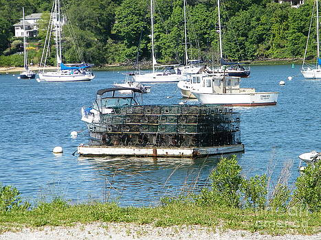 Lobster Traps on Deck by Laurence Oliver