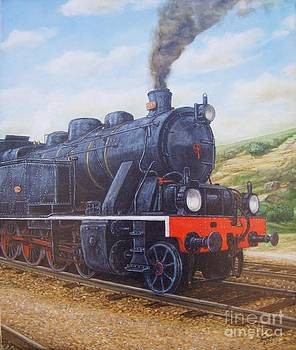 Locomotive 0186 by Carlos De Vasconcelos Tavares