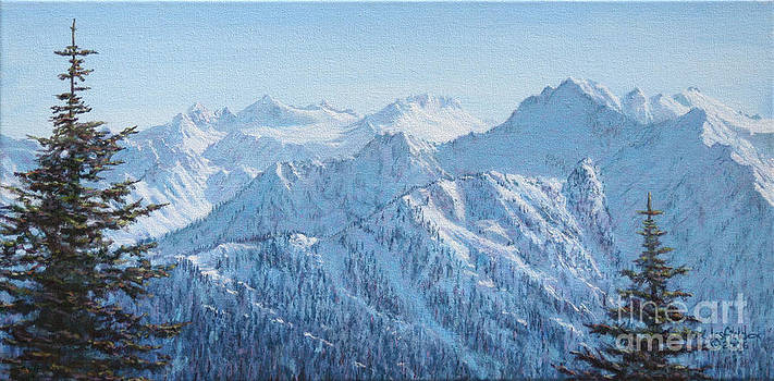 Lodge View from Hurricane Ridge by LeRoy Jesfield