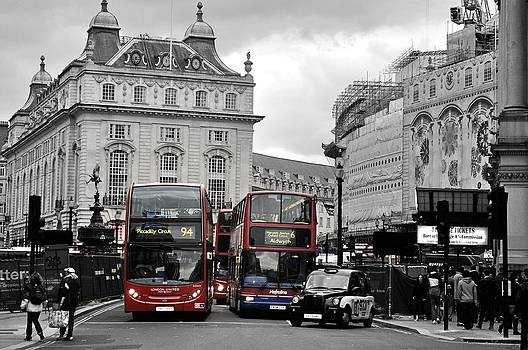 London Buses  by Andres LaBrada