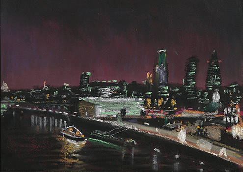 Paul Mitchell - London Night Skyline 2