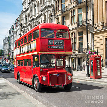 London Red Bus by Andrew  Michael