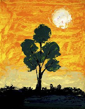 Lone Tree by Artist Singh