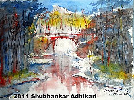Lonely River  by Shubhankar Adhikari