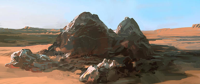 Lonely Rocks by Daniel Xiao